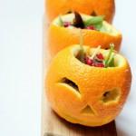 Finte zucche (insalata con arancia e melograno)