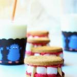 Denti di Dracula (Biscotti ripieni con marshmallow e philadelphia)