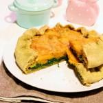 Torta salata con zucca e spinaci