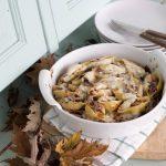 Conchiglie al forno con radicchio, noci e gorgonzola per Granoro