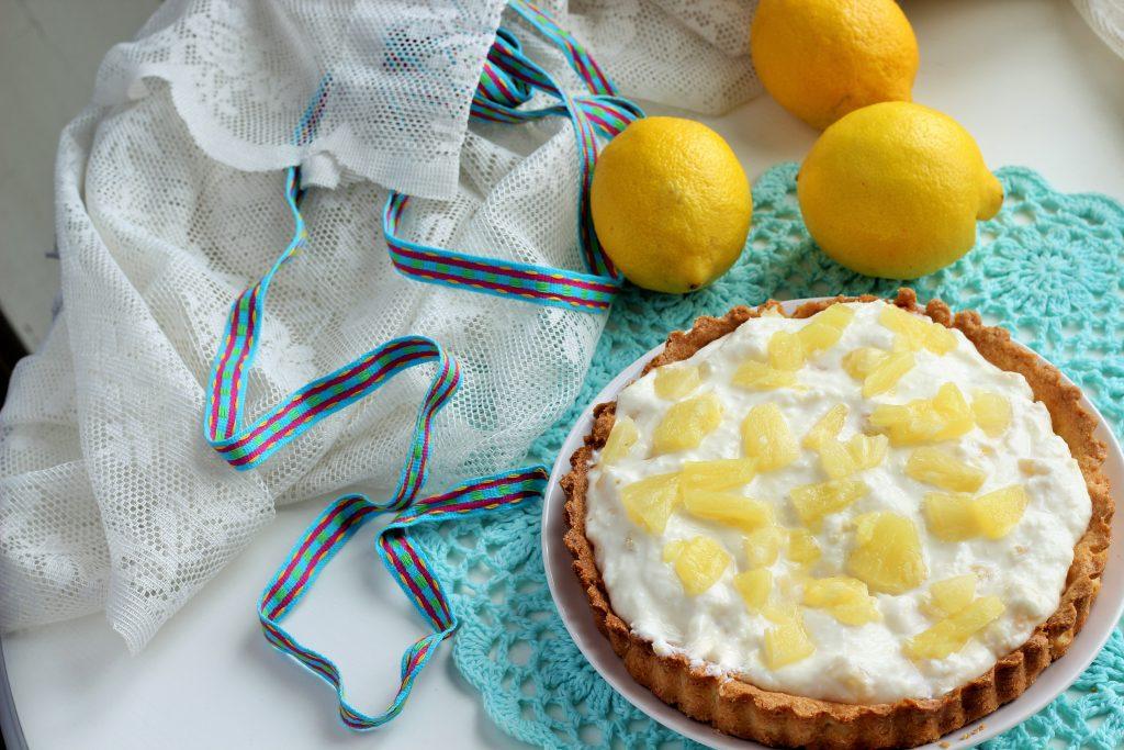 Crostata ananas cocco limone facilissima
