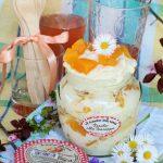 Trifle alle pesche con crema alla ricotta #ilmiopicnic