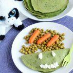 Crêpes agli spinaci con ricotta e pisellini freschi (come fare mangiare le verdure ai più piccoli)